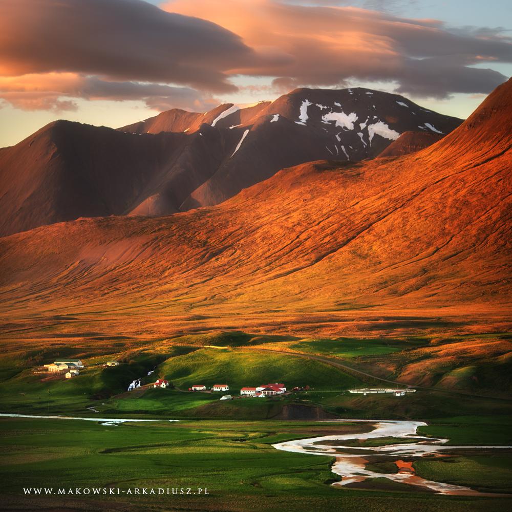 Islandia pejzaż górski Arkadiusz Makowski
